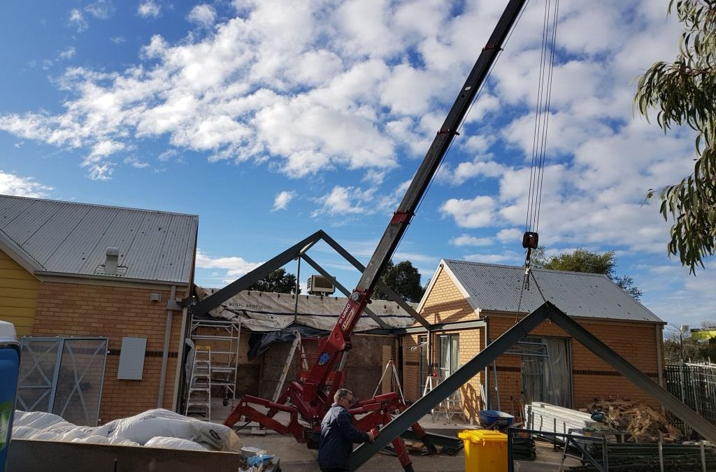 Steel Support Beams for a New Start – Oatlands Preschool