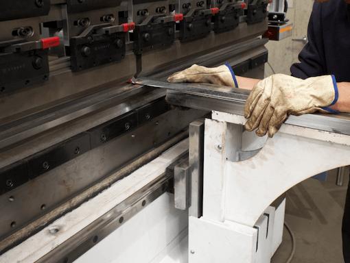 Break press folding