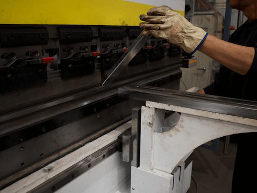 Break press folding in steel fabrication