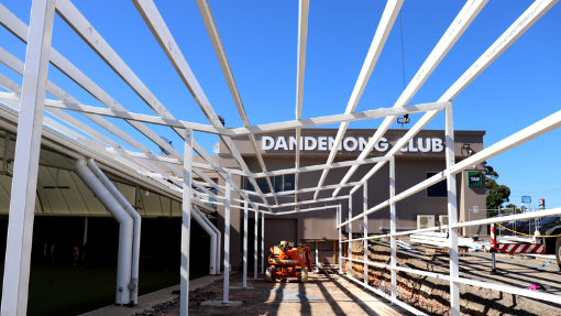steel work by Melbourne steel sales for Dandenong Club