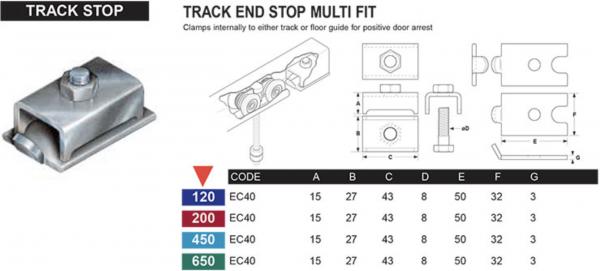 Track Stop - Sliding door system – Eltrak - EC40