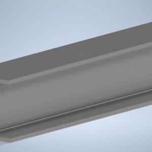 Universal-Column-Steel-full length black-UC15030